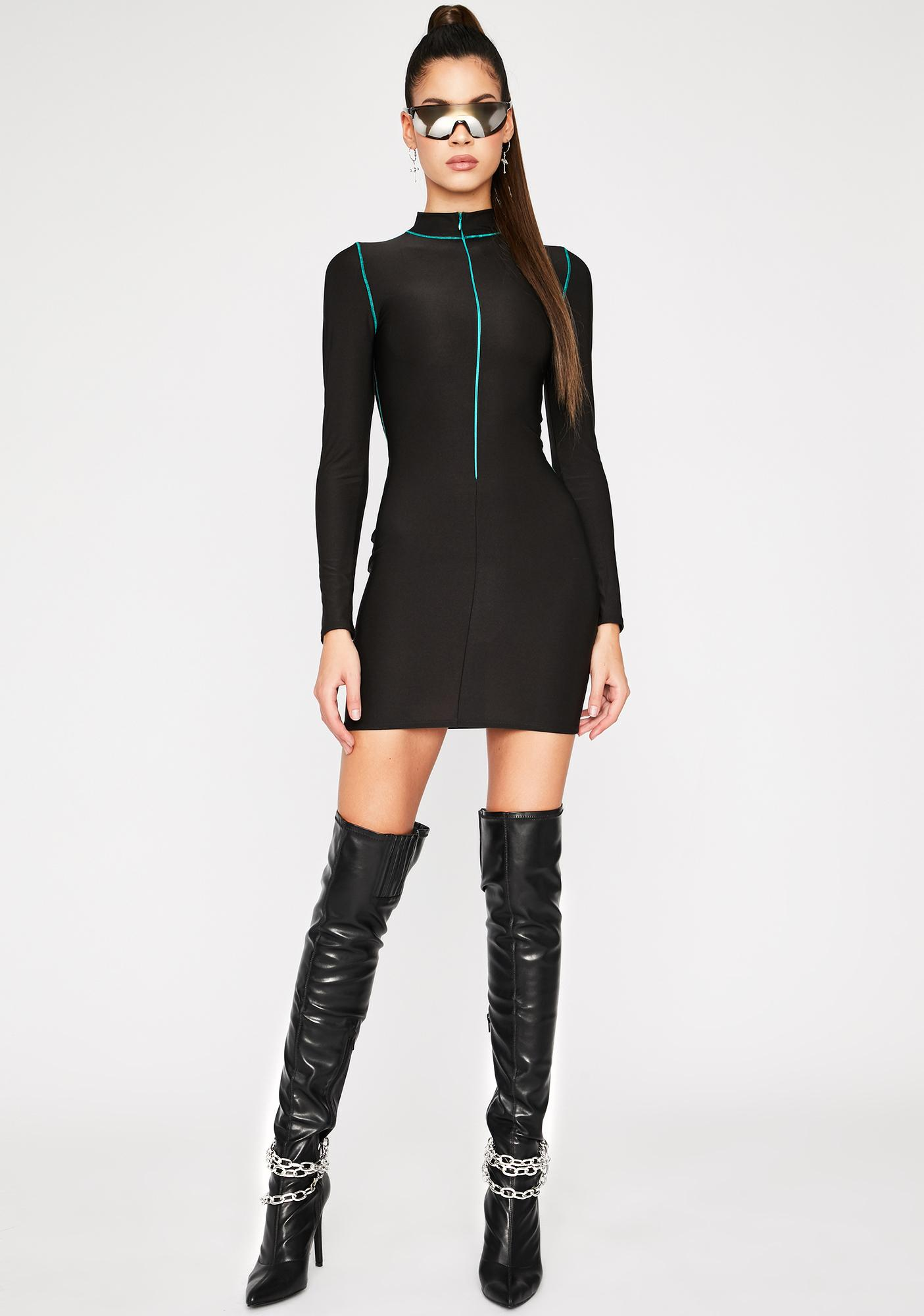 Cyber Seduction Bodycon Dress