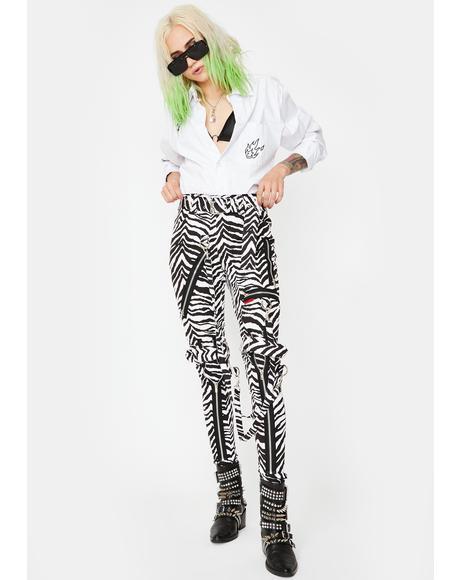 Zebra Classic Slim Leg Bondage Pants
