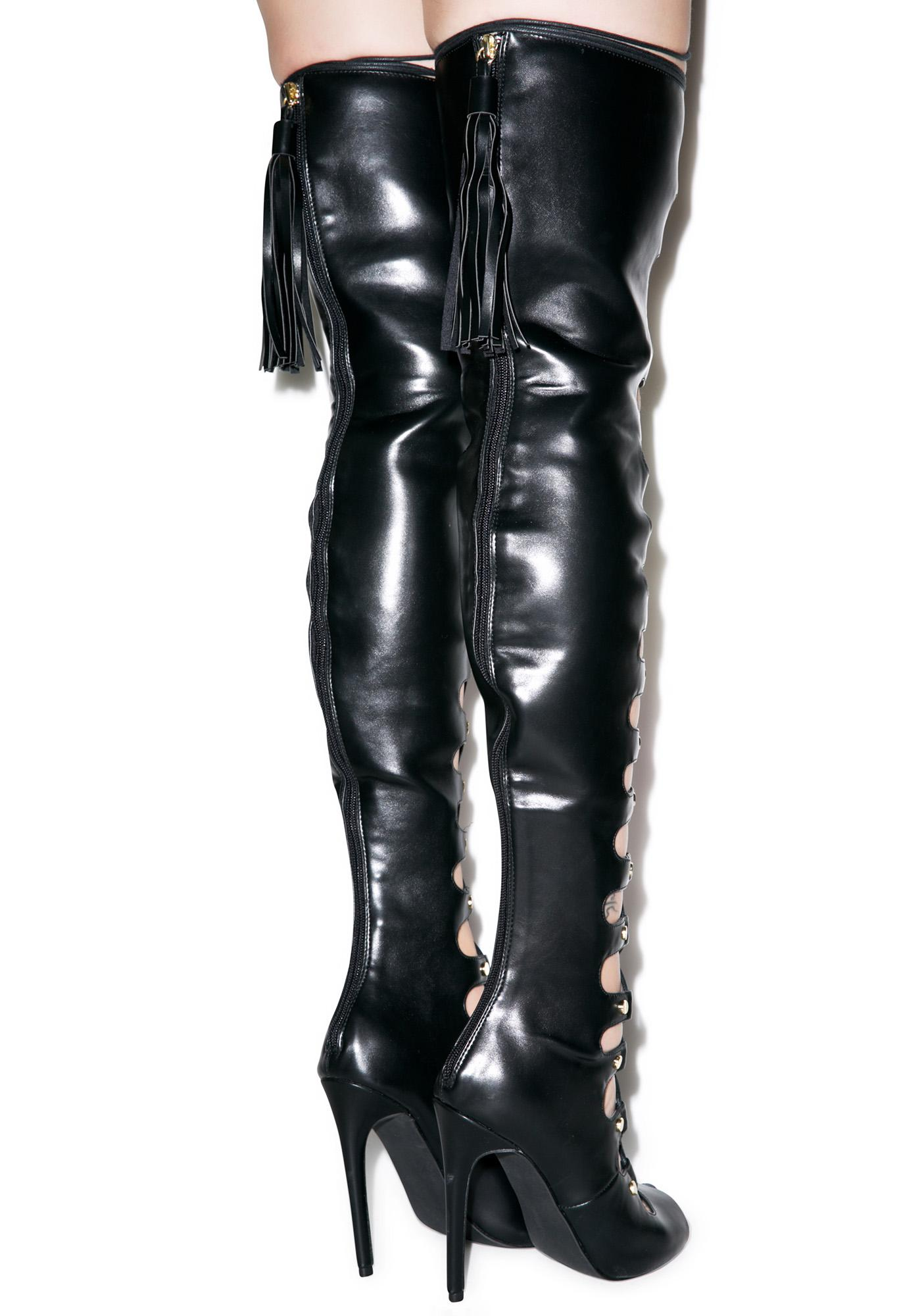 Man Eater Thigh-High Heels