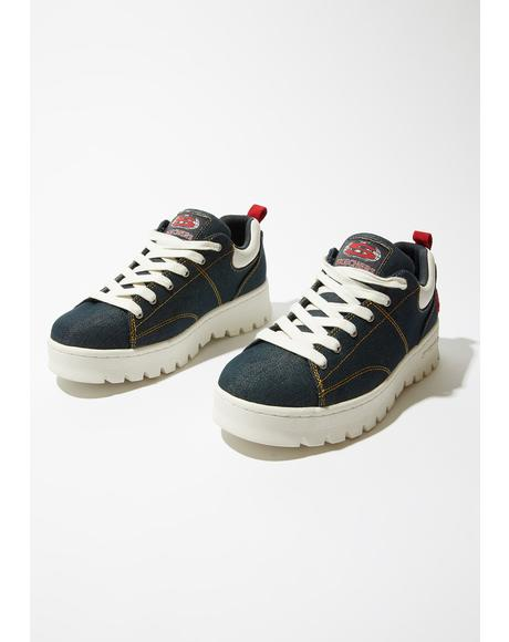 Urban Denim Cleats Sneakers