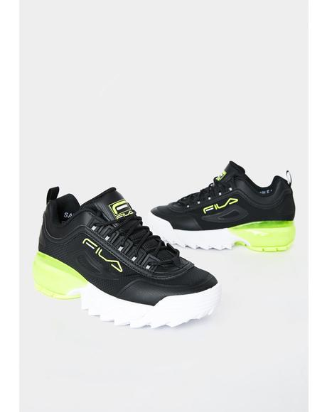 Neon Yellow Disruptor 2A Sneakers