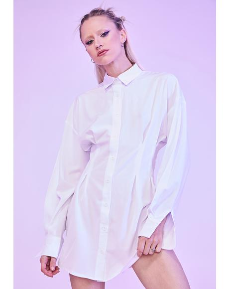 Bliss Waiting For Tonight Long Sleeve Shirt Dress