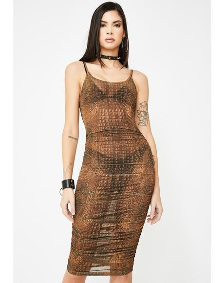 Selena Crocodile Dress