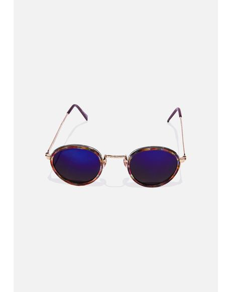 Blue Revo Rounders Sunglasses