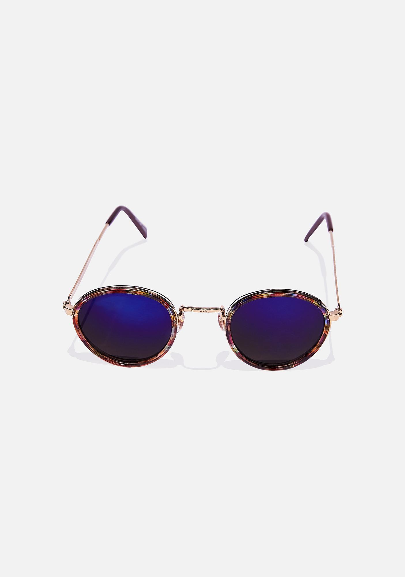Good Times Eyewear Blue Revo Rounders Sunglasses