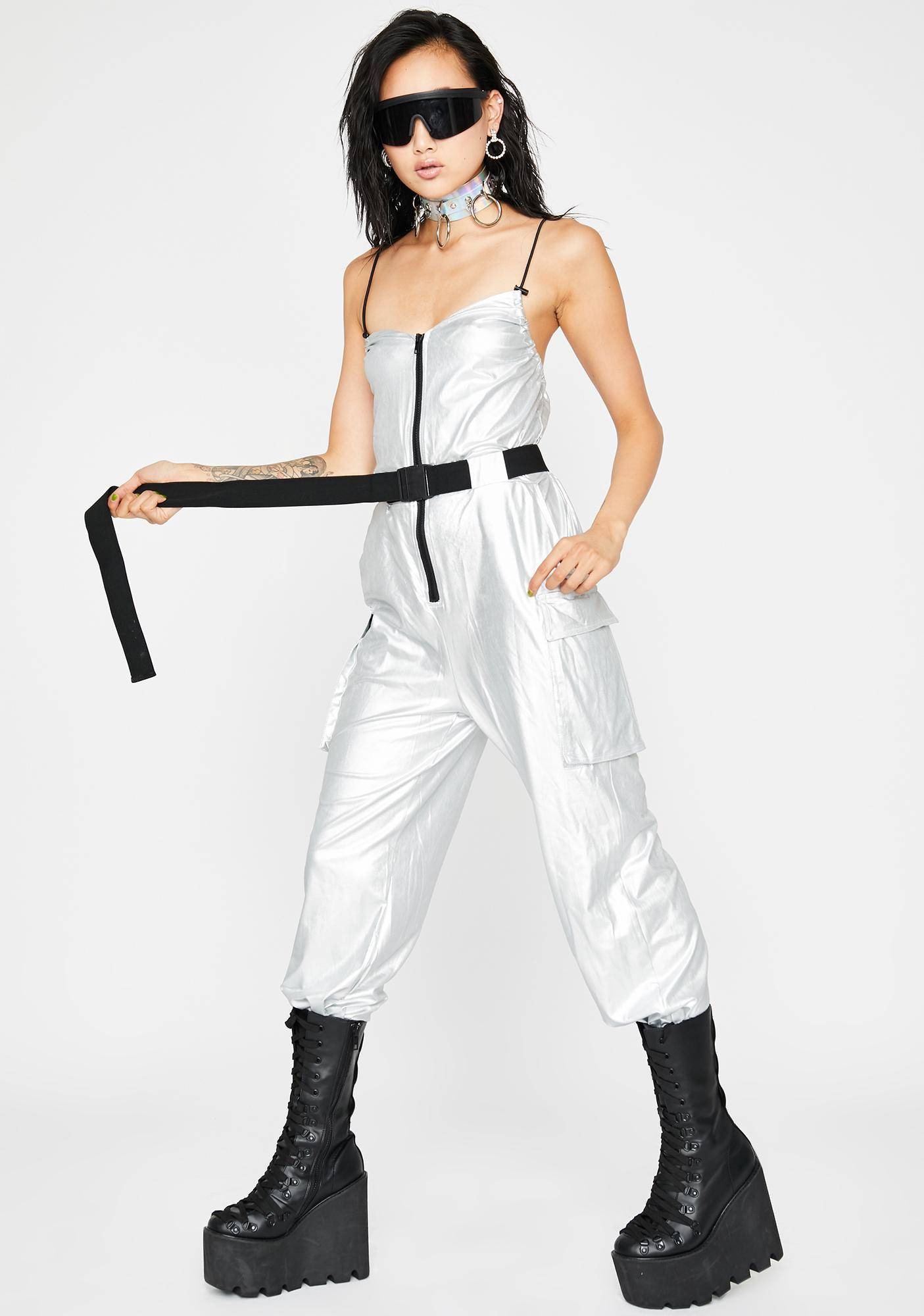 Sonic Sunrays Belted Jumpsuit