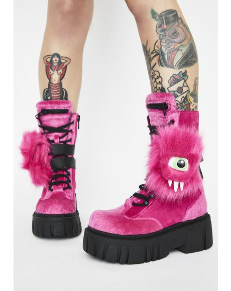 She Creature Pocket Combat Boots