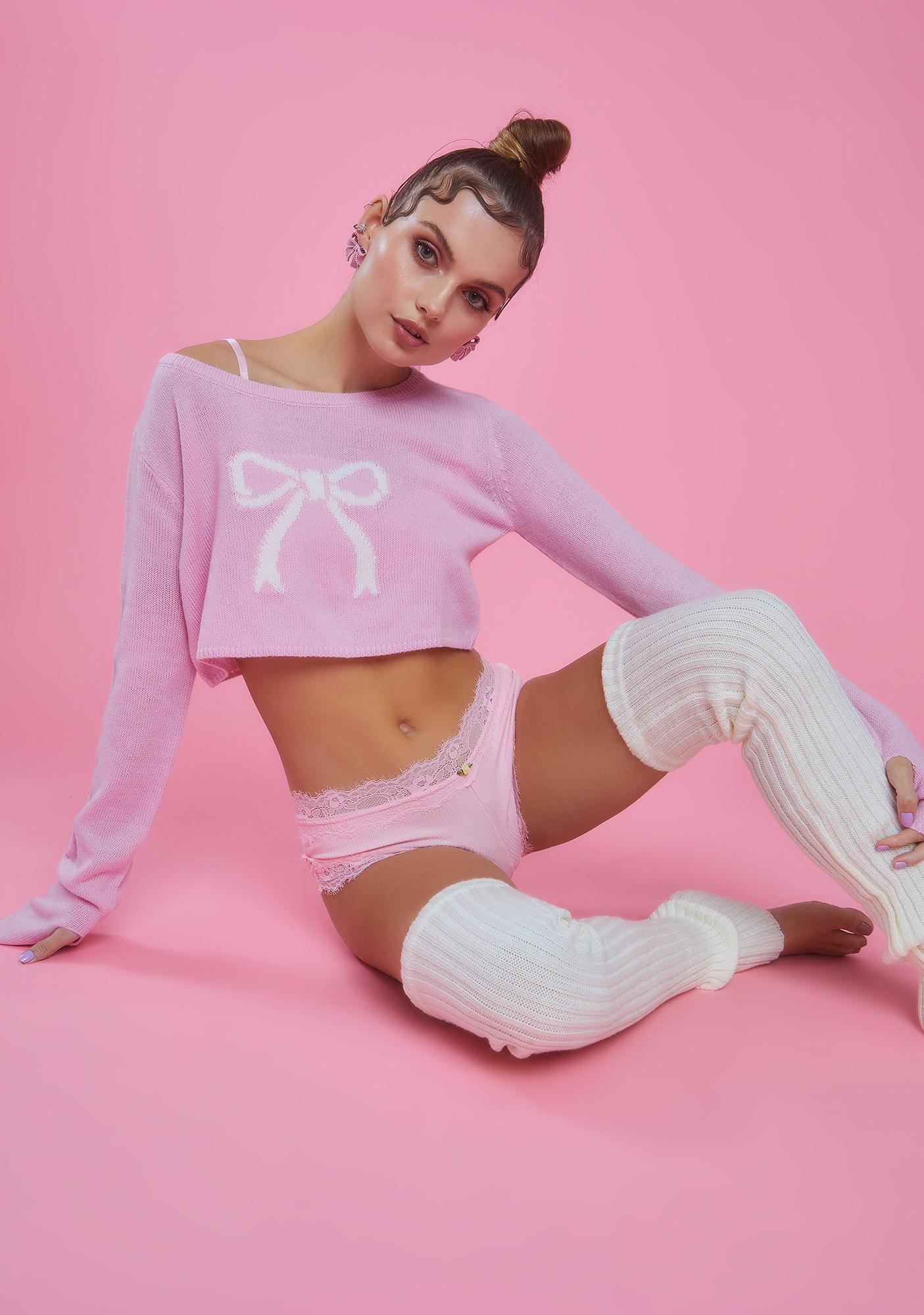 Sugar Thrillz Precious Pirouettes Crop Sweater