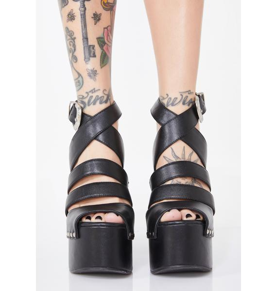 HOROSCOPEZ Wicked Hypnosis Platform Sandals
