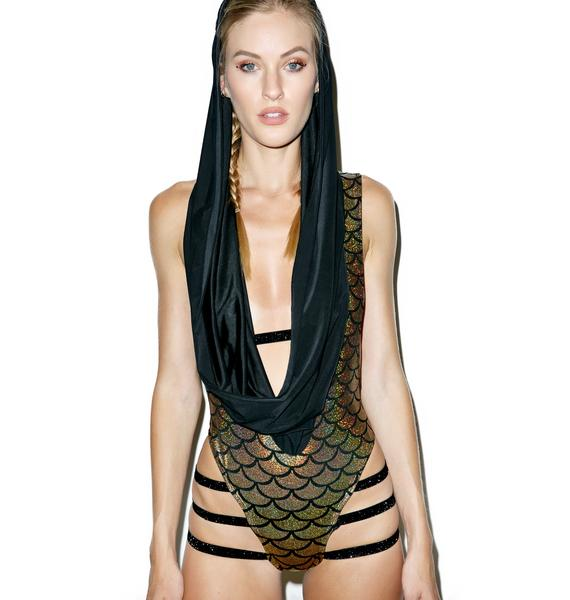 Mermaid's Escape Strapped Romper