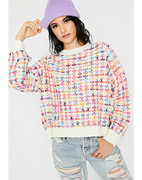 Vanilla Feelin' Alright Knit Sweater