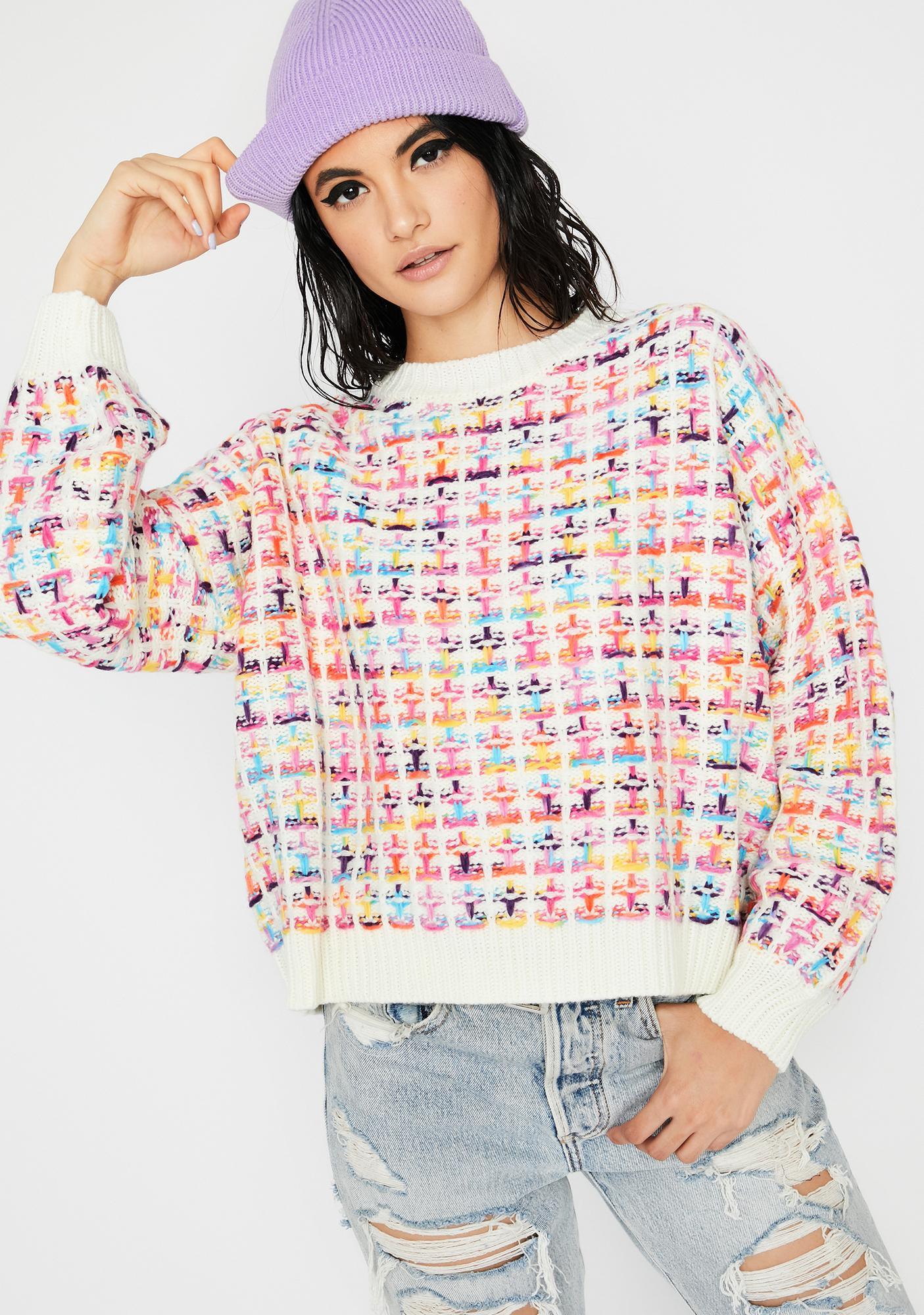 Vanilla Feelin' Alright Knit Sweater