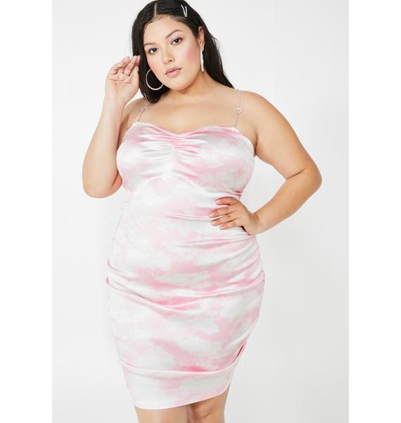 Sugar Thrillz Miss Bliss Vision Satin Ruched Dress