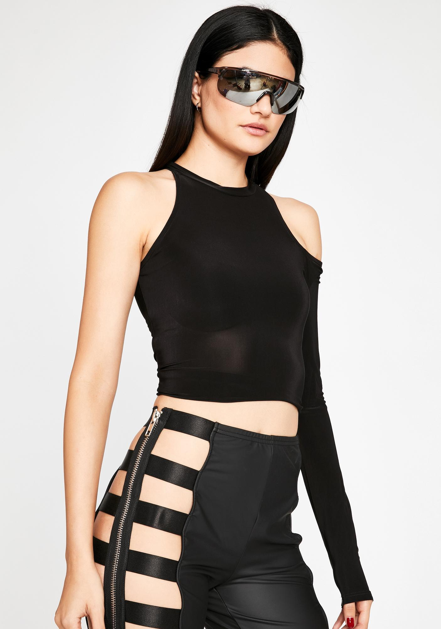Sin Playing Favorites Cut Out Top