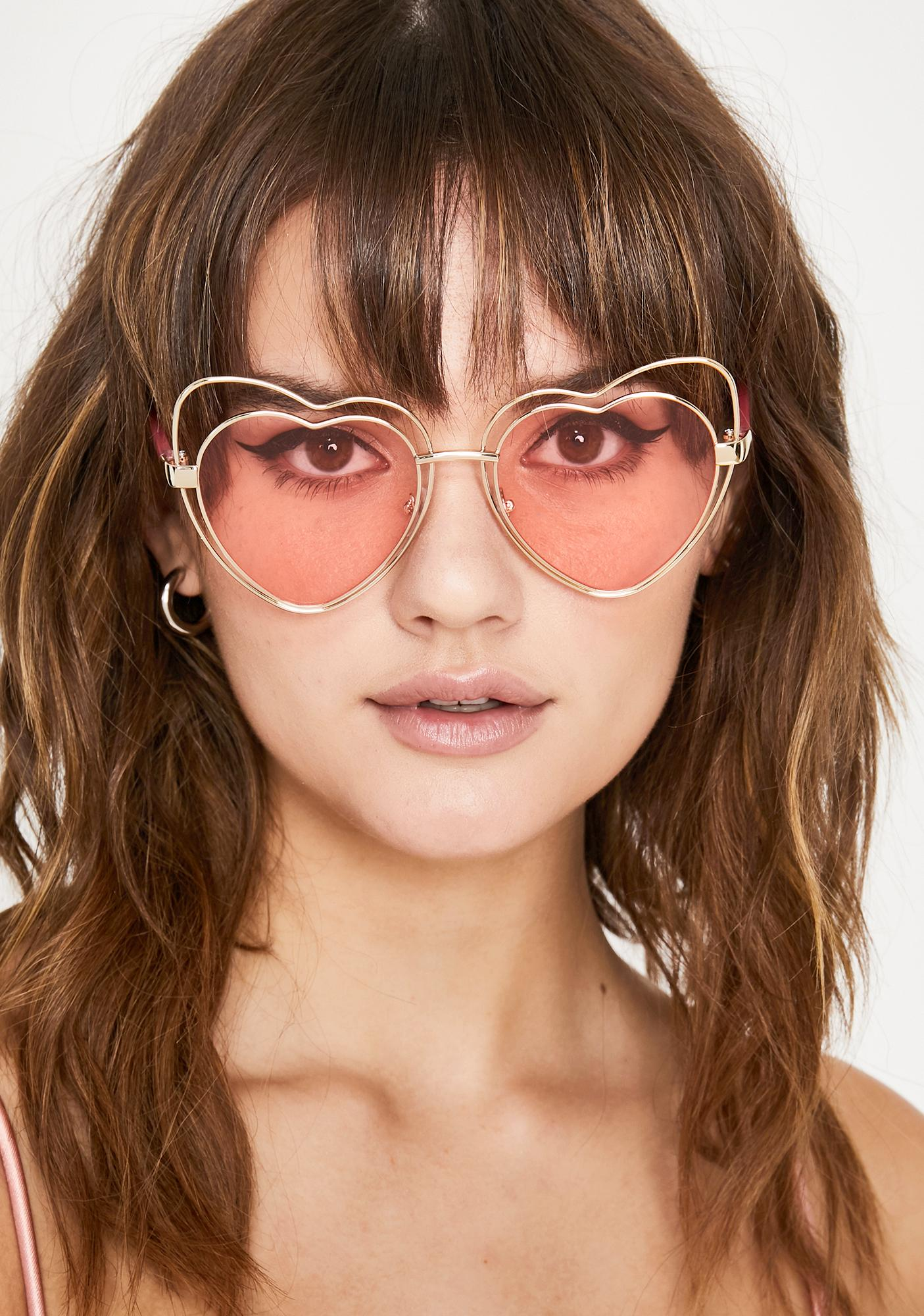 Hot Passion Babe Heart Sunglasses