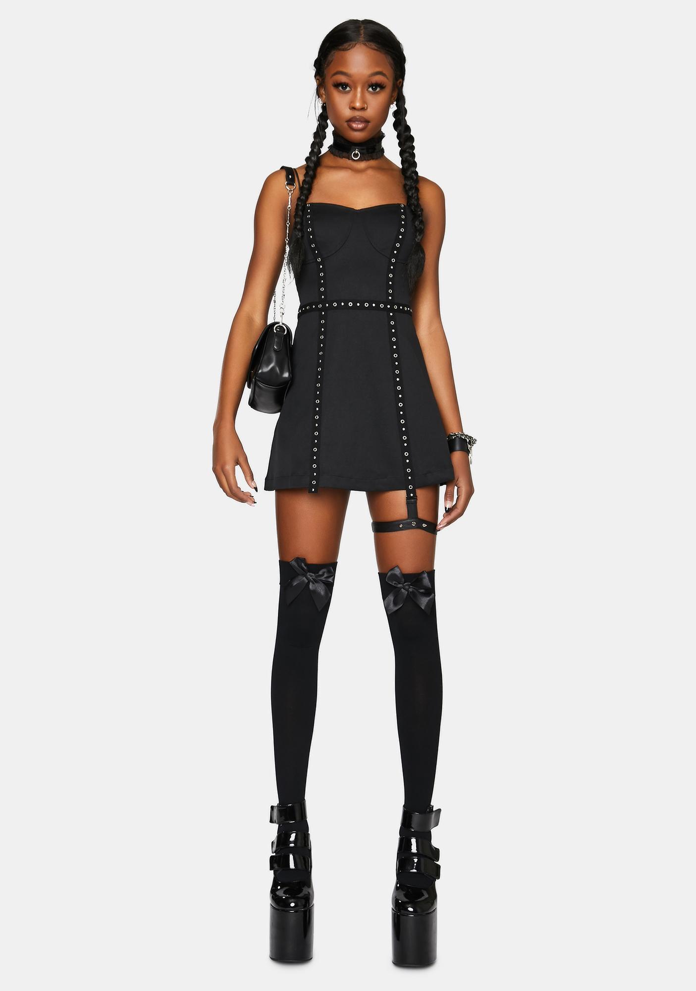 Punk Rave Sexy Punk Street Slip Dress