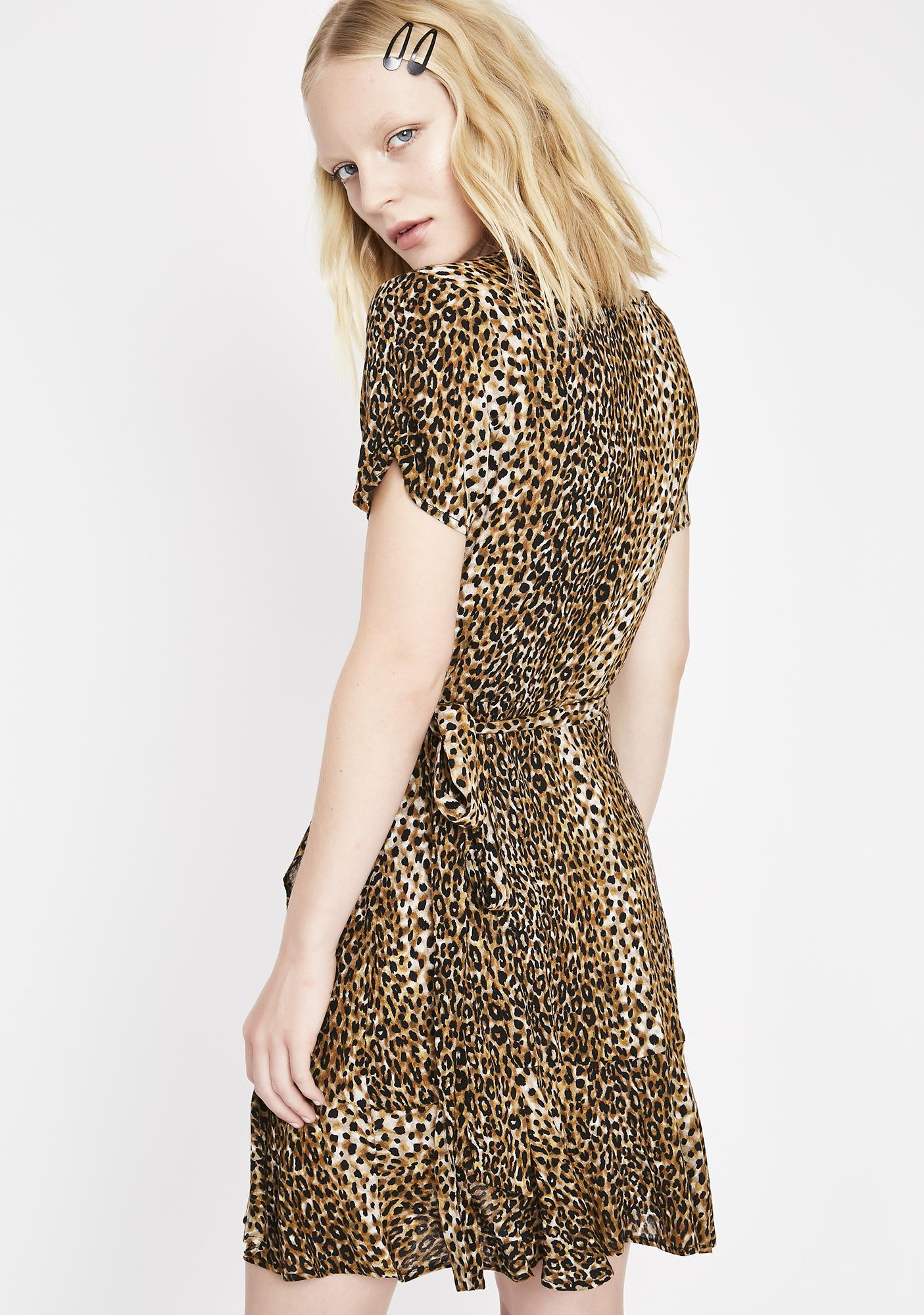 Kitty Danger Wrap Dress