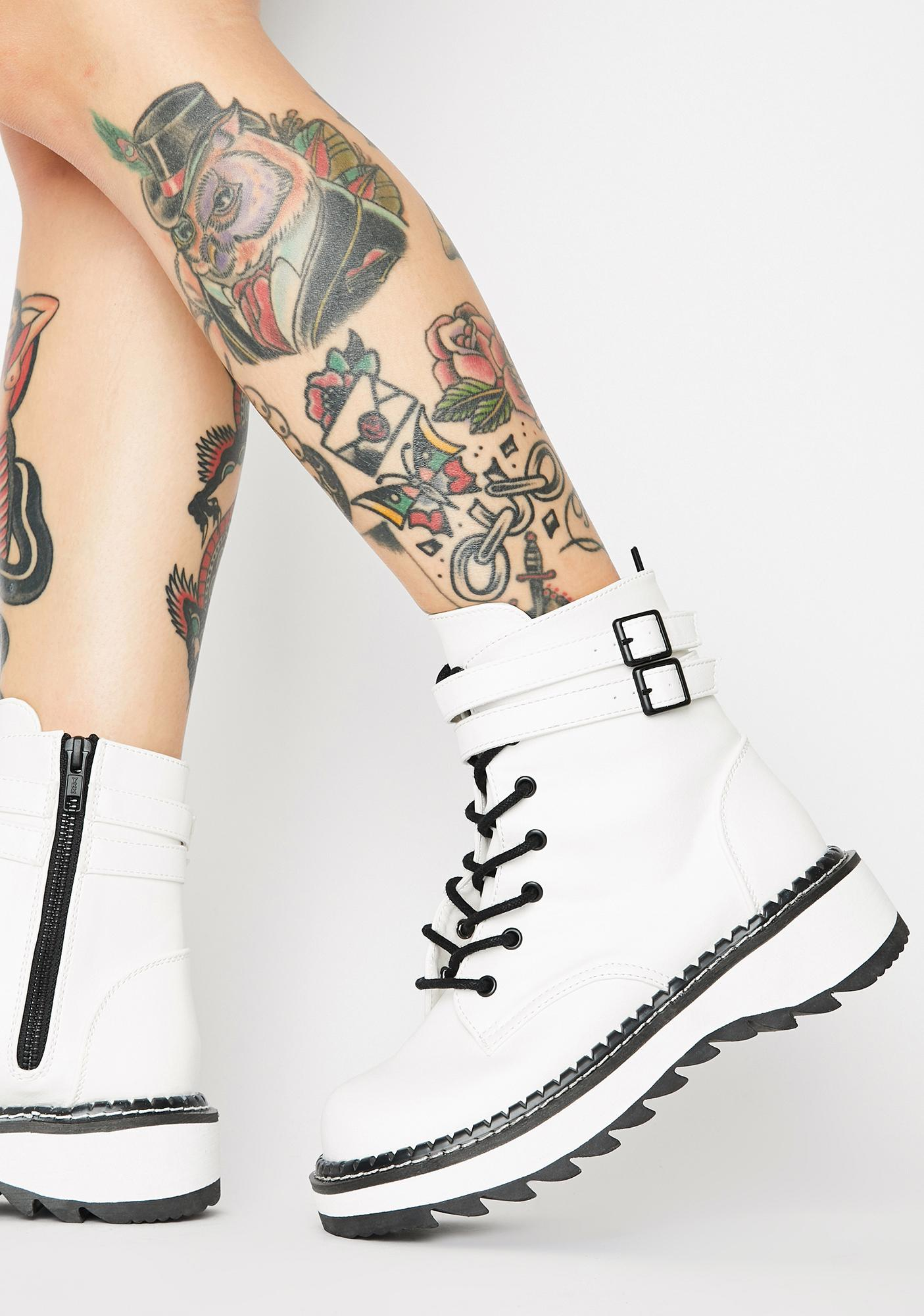 Demonia Icy Failed Senses Combat Boots