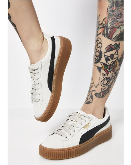 Whisper Suede Platform Core Sneakers