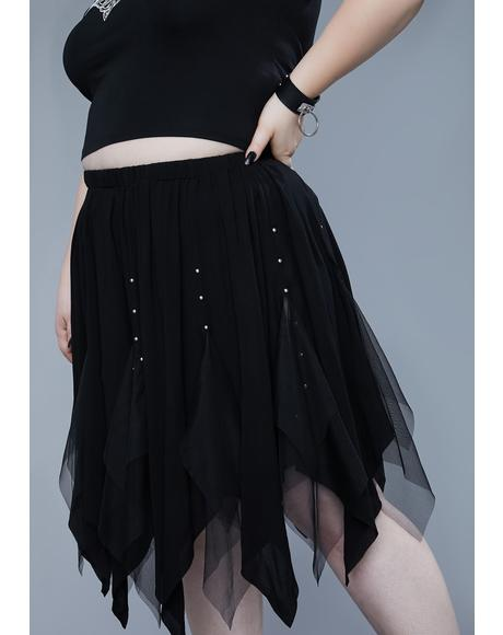 I'll Light The Fire Midi Skirt
