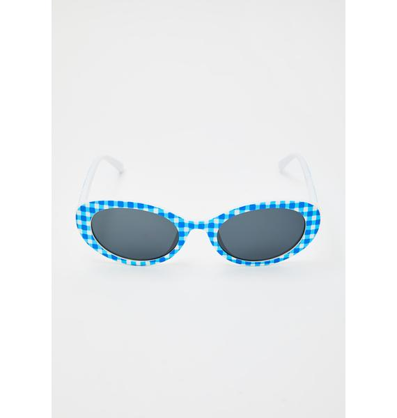 Party Platter Oval Sunglasses