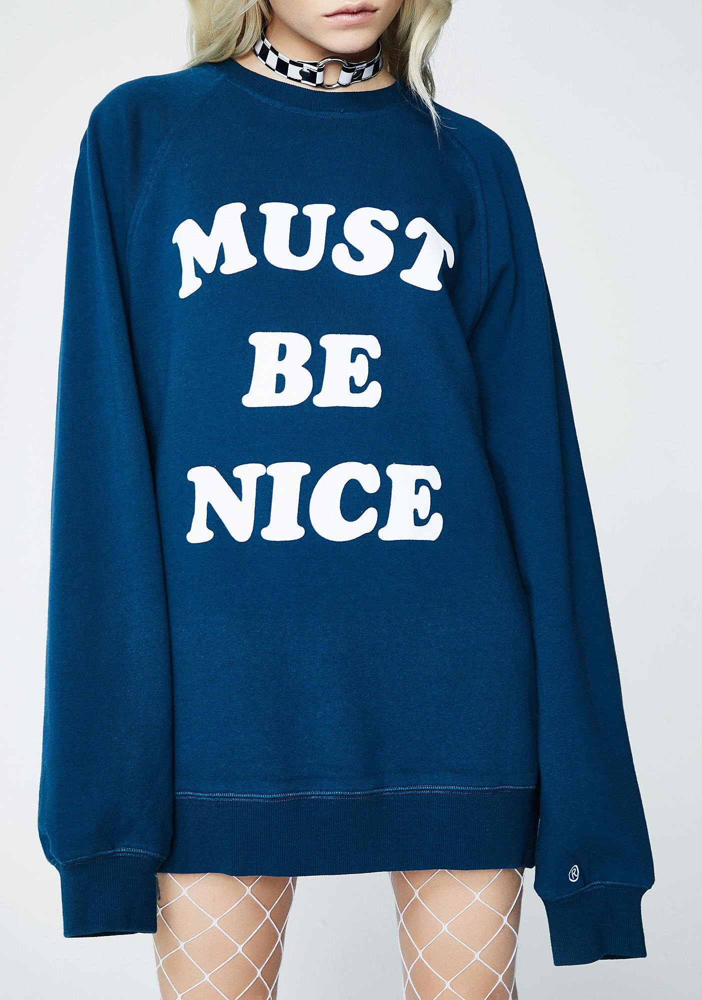 RIPNDIP Must Be Nice Chill Out Crewneck Sweatshirt