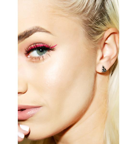 Rock n Rose Pizza Emoji Earrings