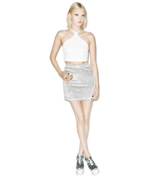 Motel Fringe Skirt