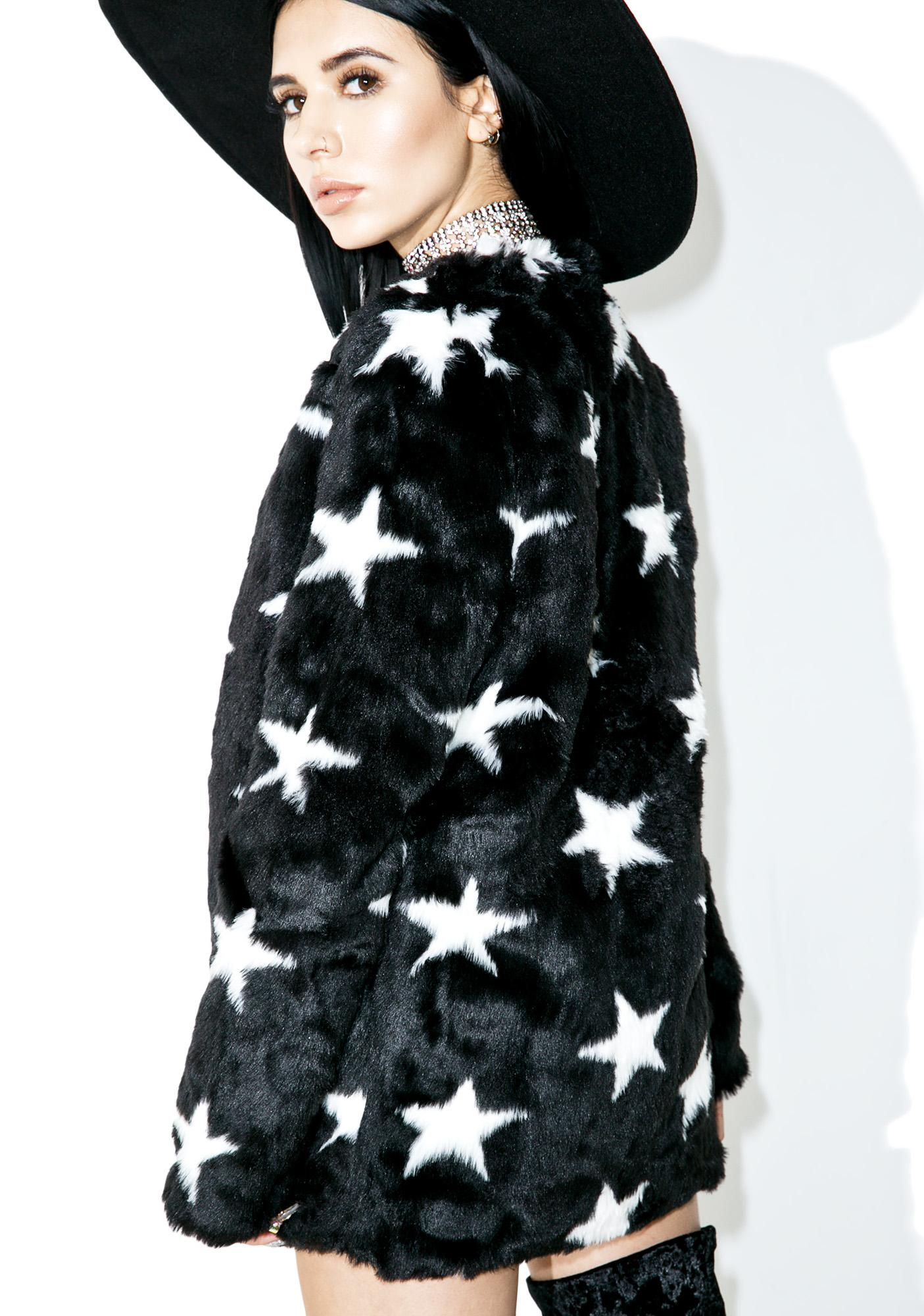 Lucky Star Faux Fur Coat