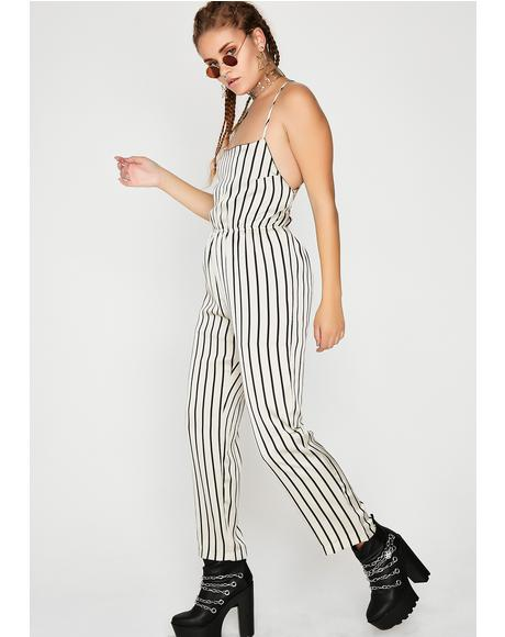 Doin' Lines Striped Jumpsuit