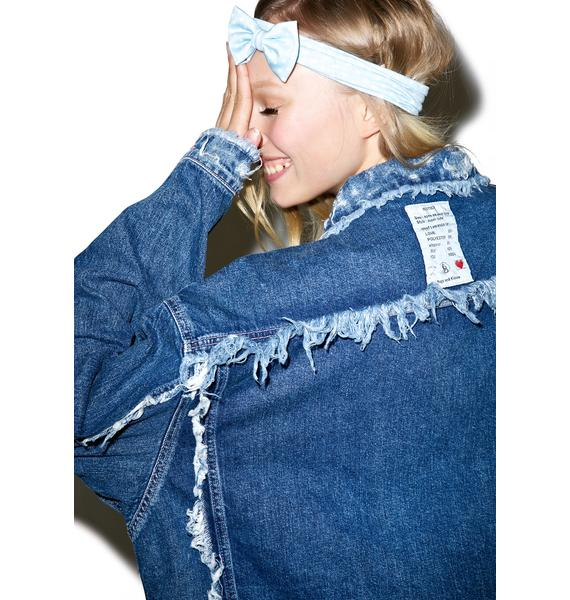 Little Sunny Bite Damaged Denim Jacket