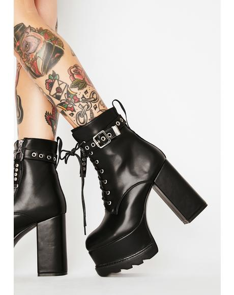 Whatta Night Heeled Booties