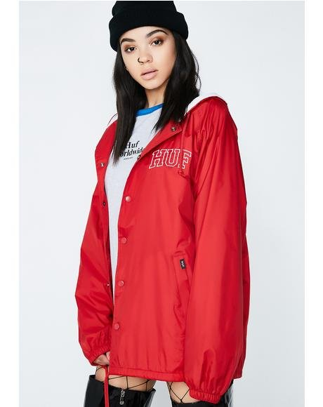 Arch Block Hooded Coach Jacket