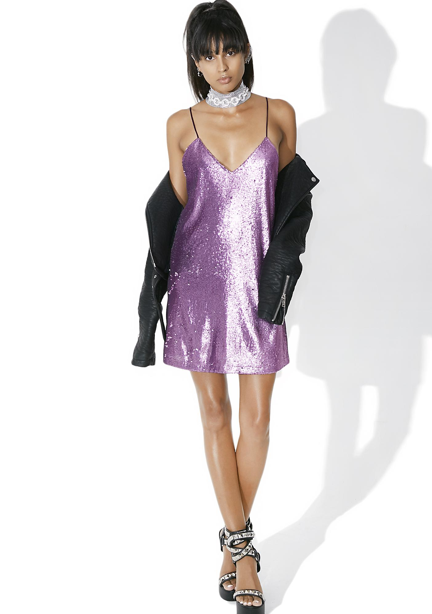 Motel Amethyst Valley Slip Dress