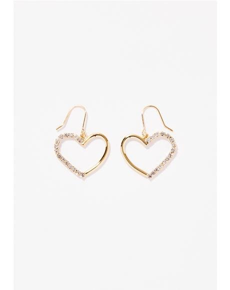 Spoil Me Sparkle Heart Earrings