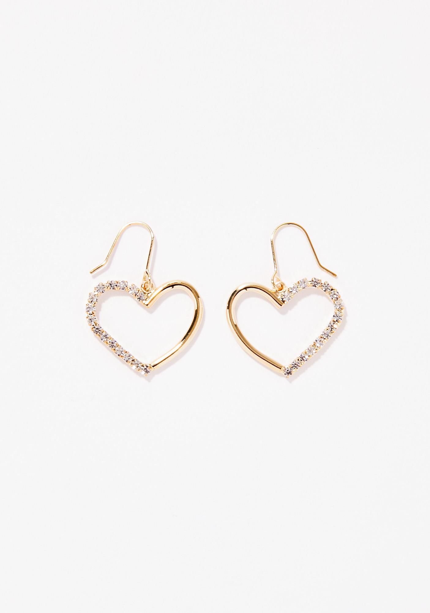 Spoil Me Sparkle Heart Earrings