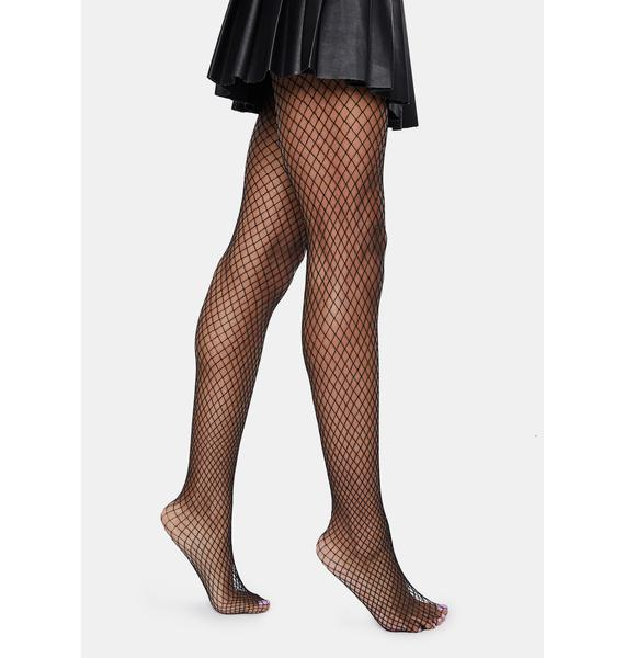 MeMoi Oil Slick Fishnet Tights