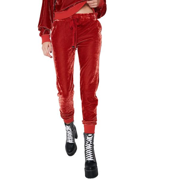 Get On Up Velour Jogger Pants