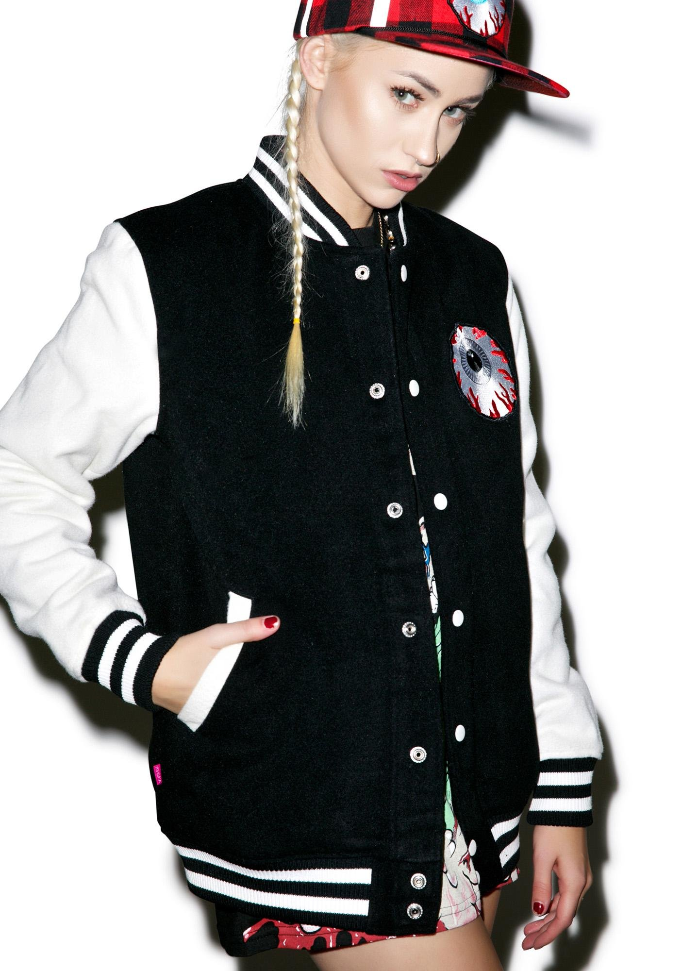 Mishka Keep Watch Worldwide Varsity Jacket