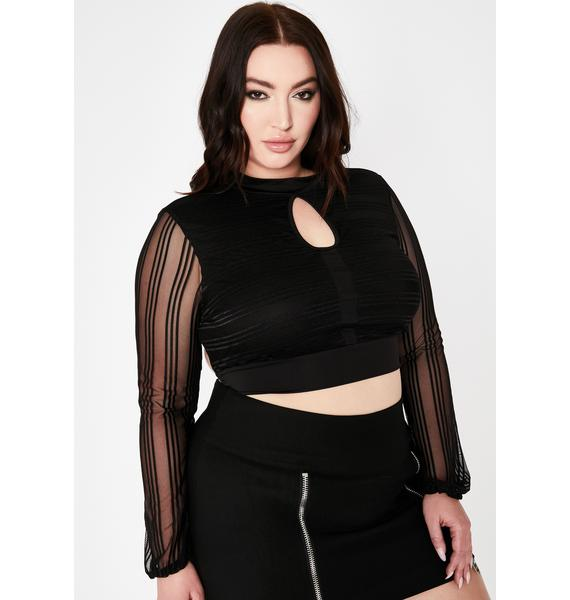 Only Think About Me Keyhole Top