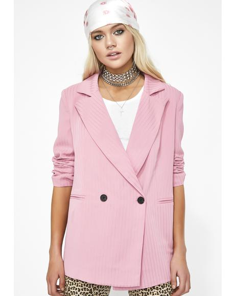 Legally Pink Double Breasted Blazer