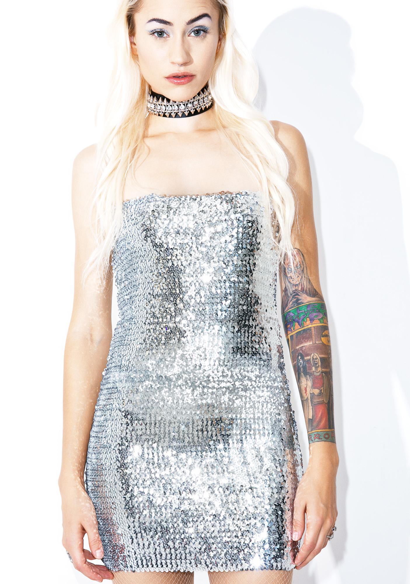 Silver Lining Bodycon Dress