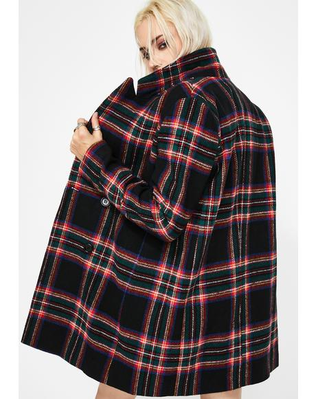 Mutual Disrespect Plaid Coat