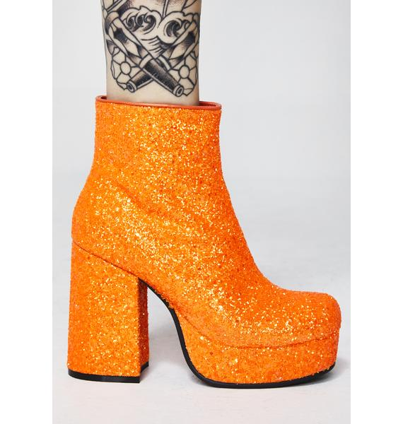 Current Mood Tangy Keep Ya Sparkle Glitter Boots