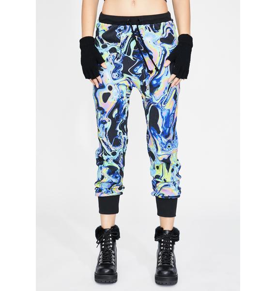 Club Exx Acid Dimension Knit Joggers