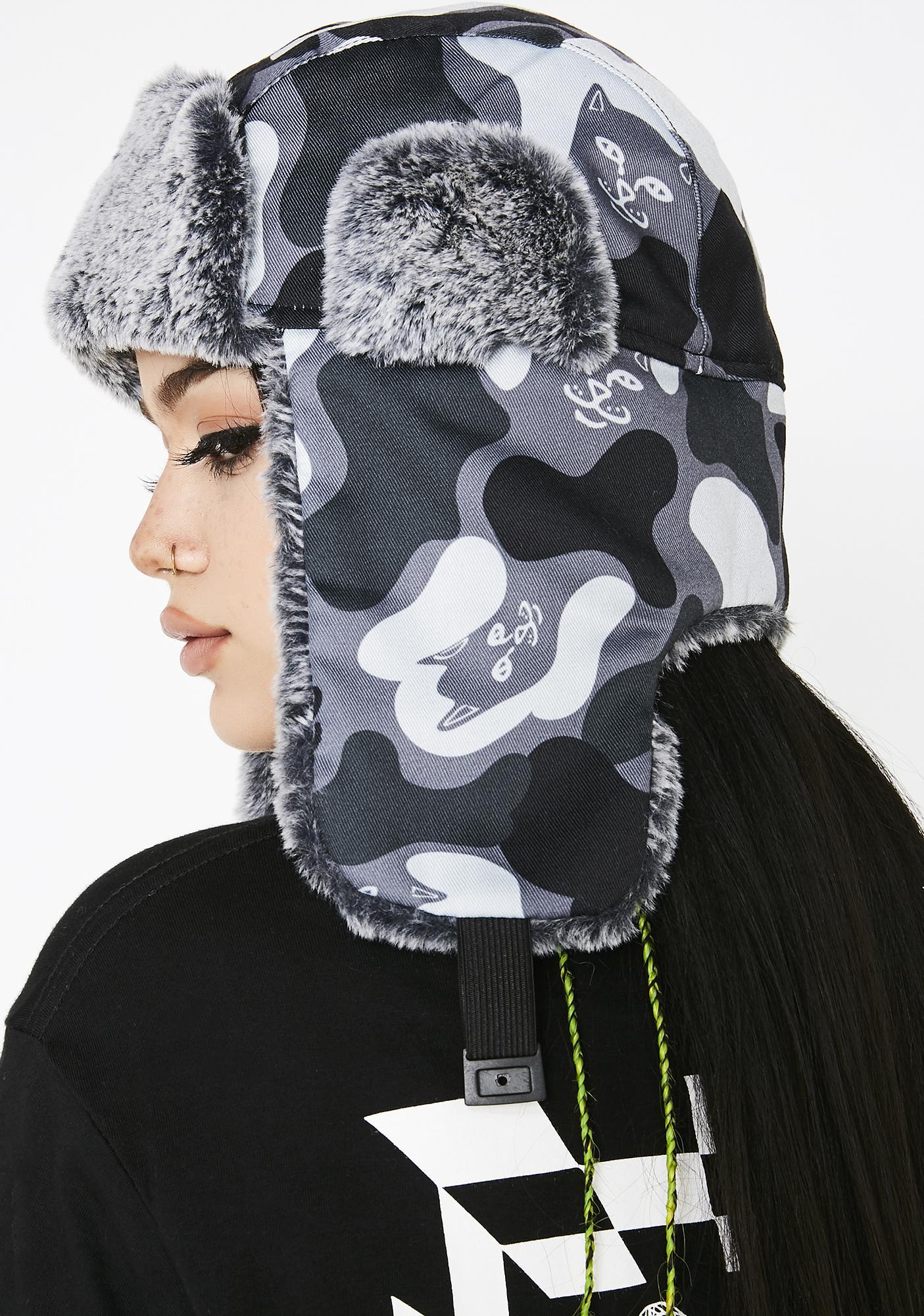 RIPNDIP Blackout Nerm Camo Aviator Hat