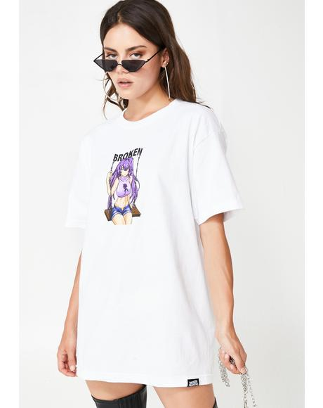 Broken Anime Girl Graphic Tee