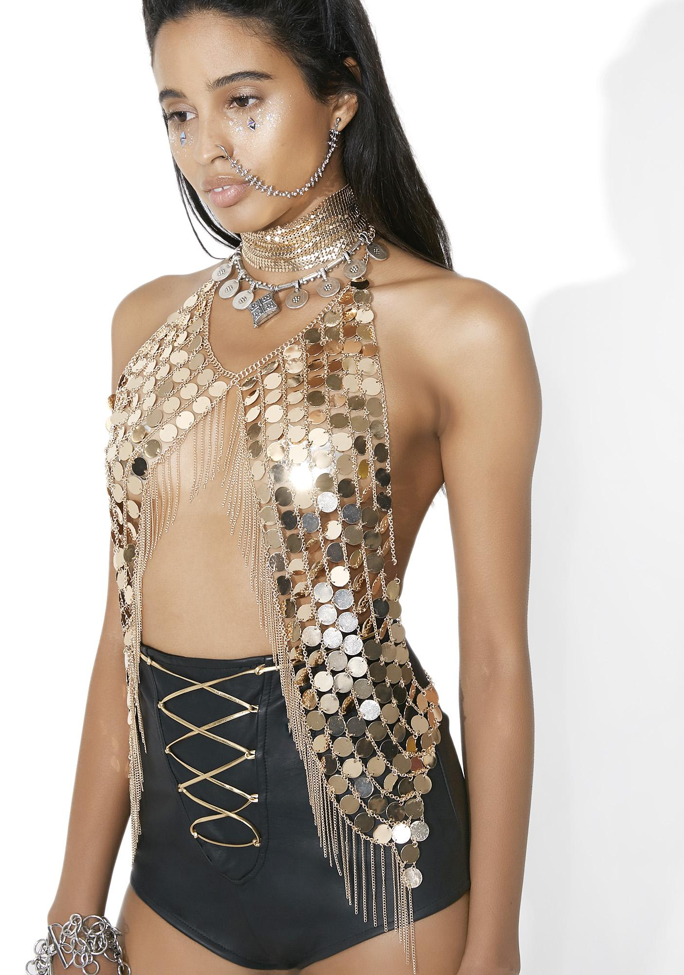 Golden Gyal Chainmail Top