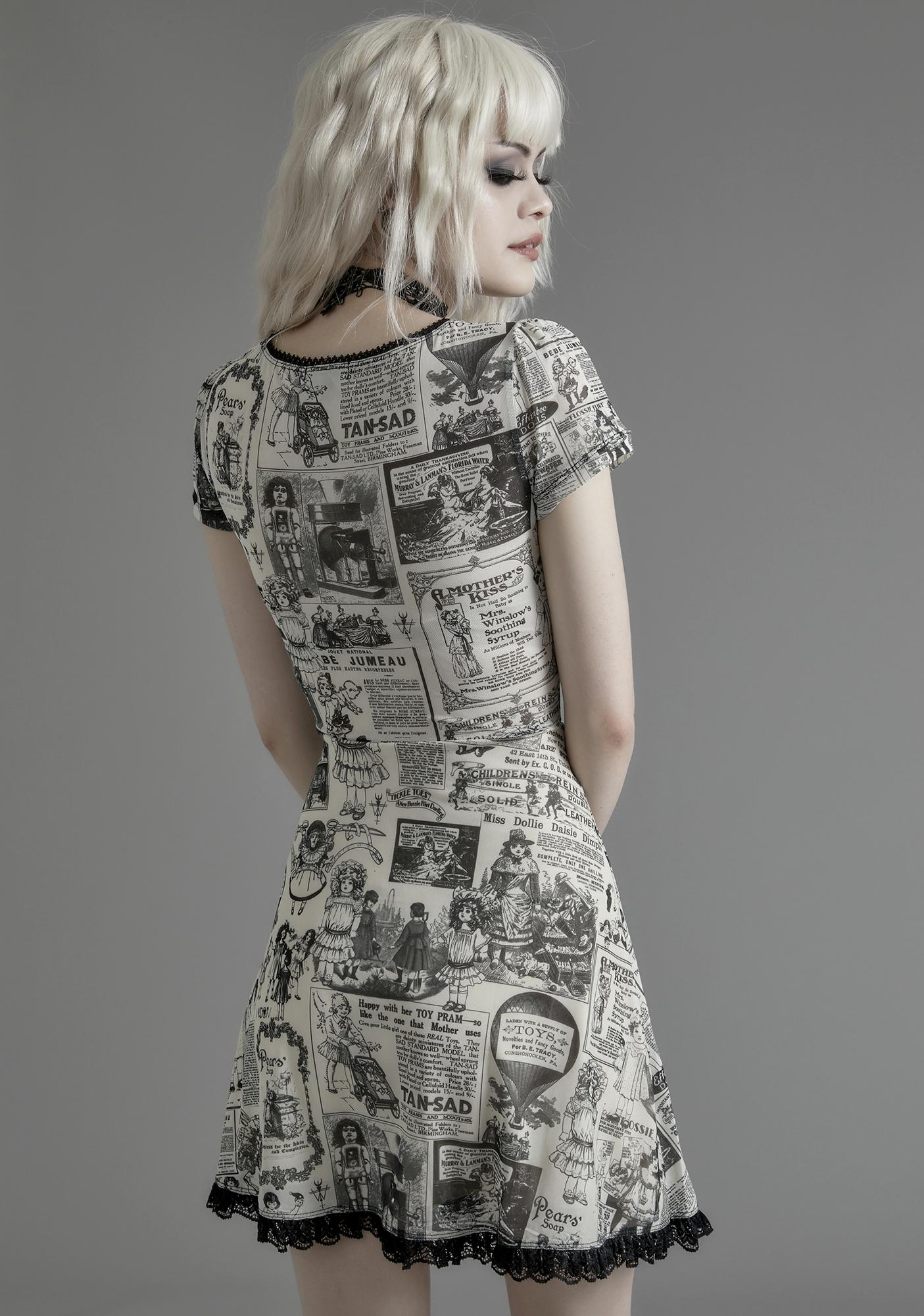 Widow Unfortunate Events Mesh Dress