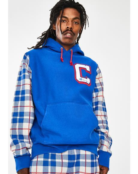 Reverse Weave Pullover Hoodie Sweatshirt